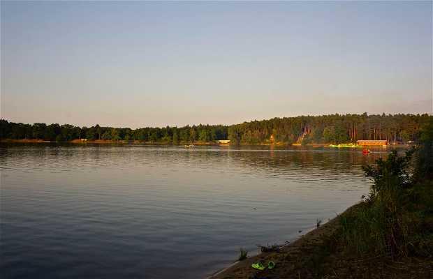 Atardecer en el lago bezdrev