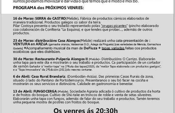 Viernes Gastronómicos en la Confitería La Esquina (Arzúa).