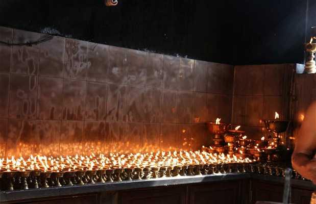 Mercadillo de velas de manteca de Yak