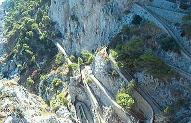 Sendero a las playas de Capri