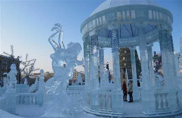 Esculturas de hielo en Yekaterinburg