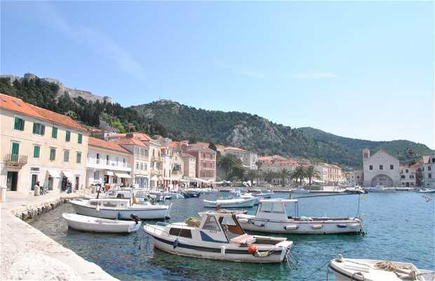 Harbour and Promenade in Hvar