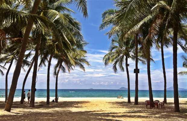 A praia de Cua Dai