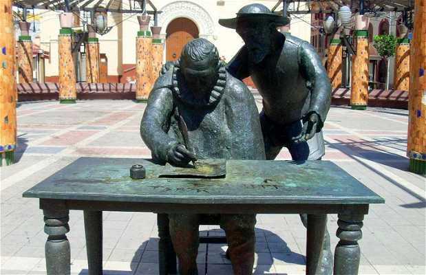 Miguel de Cervantes and Don Quixote Statues