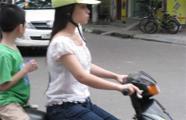 Traffic on the streets of Hanoi