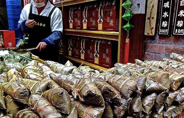 Puestos de comida de Qibao