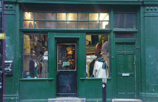 Boutique vintage sans nom à Shoreditch