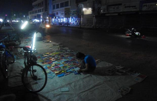 Marché de nuit de Mandalay