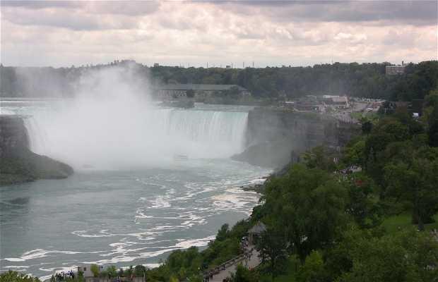 Las cataratas canadienses del Niagara, Niagara on the Lake, Canada