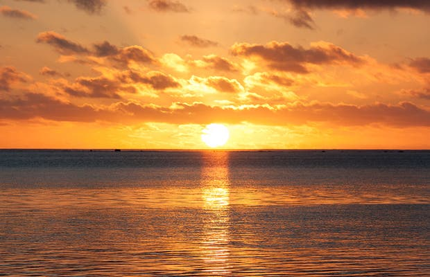 Puesta de sol en Aitutaki