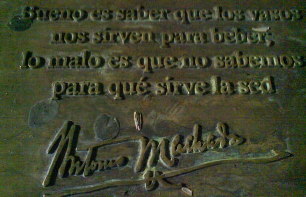 Sculpture to Antonio Machado