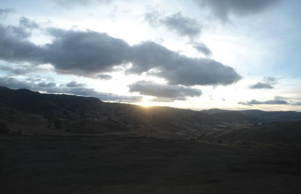 La route entre Latacunga et Zambahua