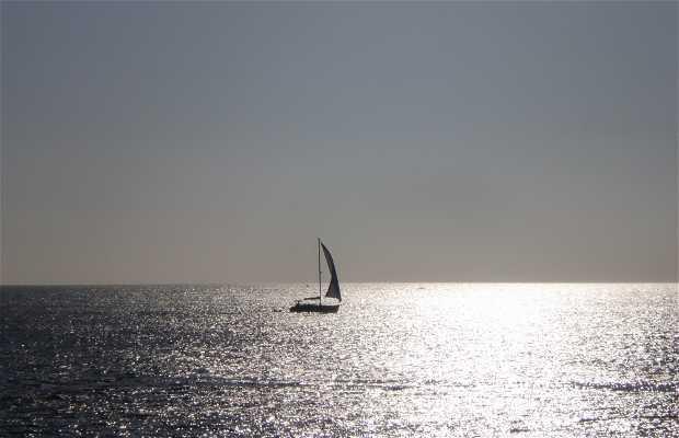 Sunset at Es Arenals beach