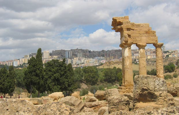 El templo de Cástor y Pólux