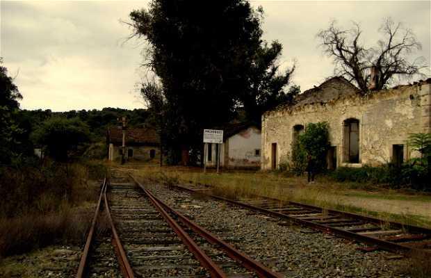 Vega de Terron gare de train abandonnée
