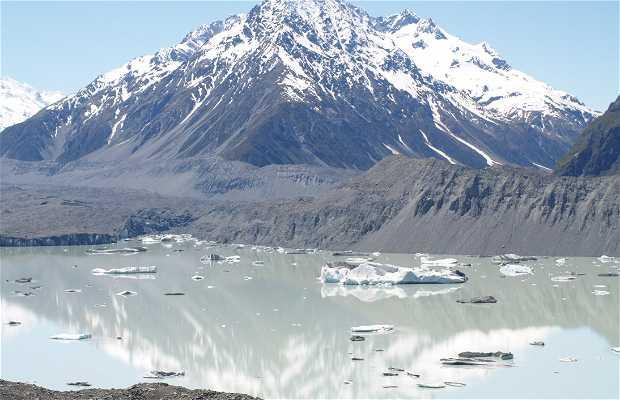 Caminhada ao glaciar do Mount Cook