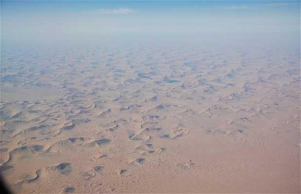 El desierto de Gobi desde el aire