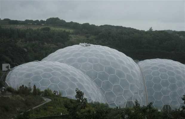 """El invernadero """"Eden Project"""", Cornwall."""