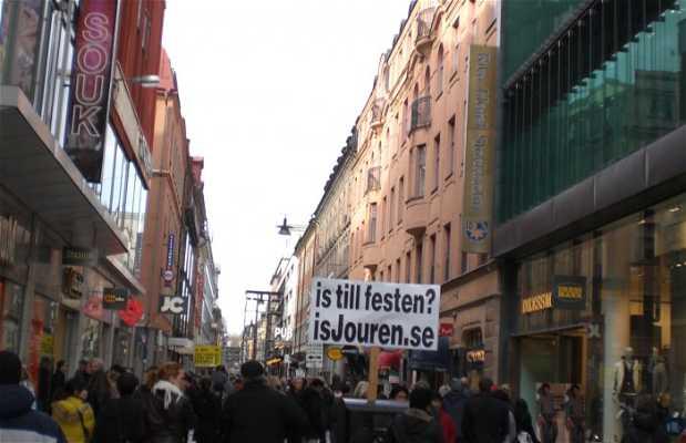 Via Drottninggatan a Stoccolma