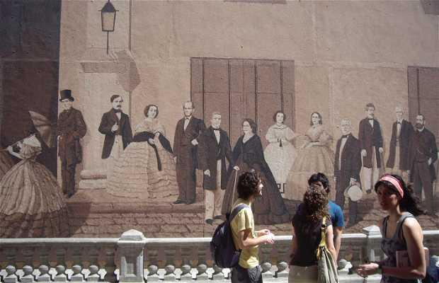 Mural histórico cultural del Liceo Artístico y Literario de La Habana