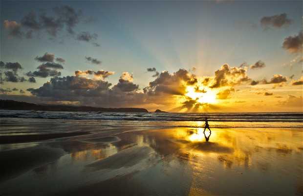 Coucher du soleil à Asturias...