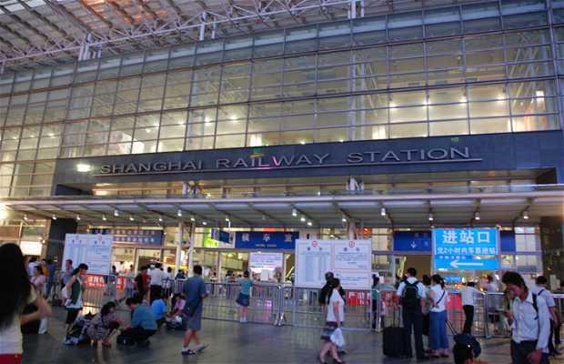 La gare ferroviaire de Sanghai