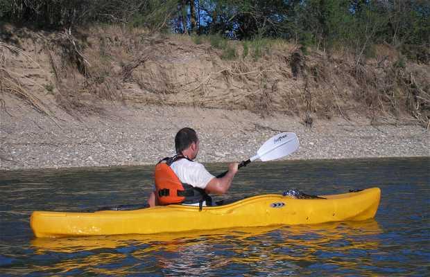 El río Ebro a su paso por Buñuel