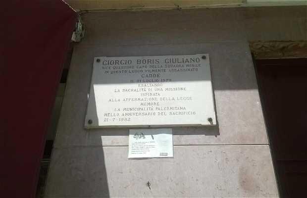 Lapide in memoria di Boris Giuliano