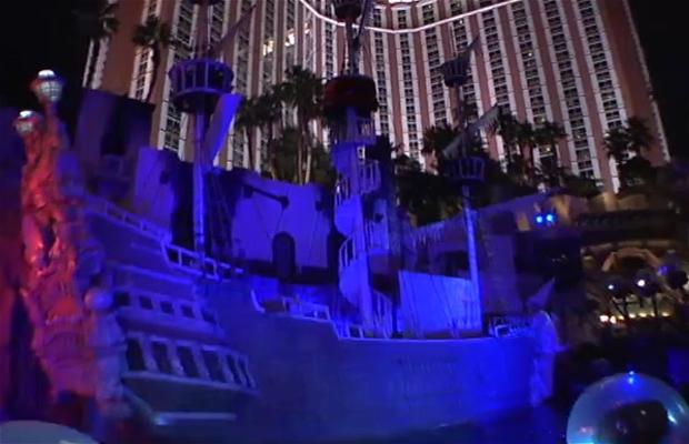 Espectáculo de piratas del Treasure Island