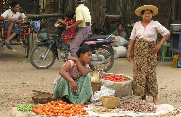 Mercado de Nyaung U - Bagan