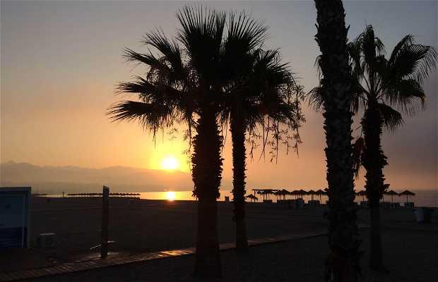 Spiaggia Las Palmeras a Malaga