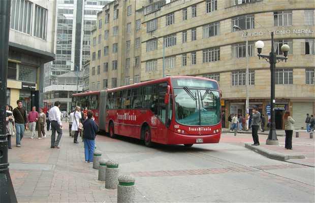 Autobus Transmilenio a Bogotá in Colombia