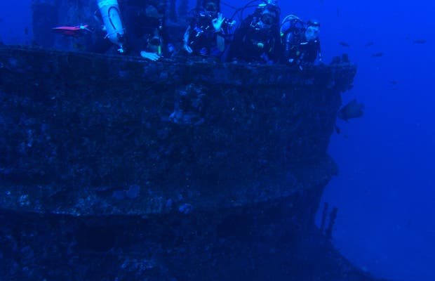 Mergulho Corveta Ipiranga (63 metros profundidade)