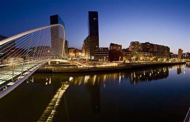 Fiume del Nervion a Bilbao