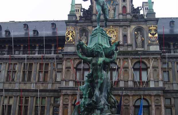 Statue de Silvio Brabo