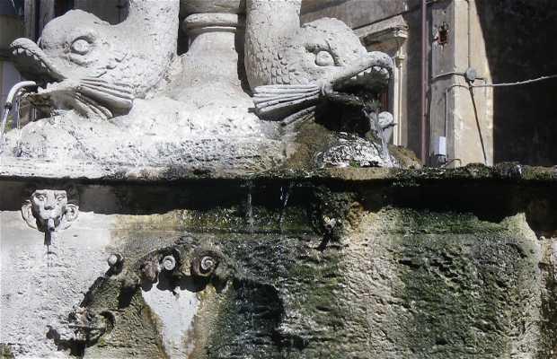 Fontana dei delfini a Sutri