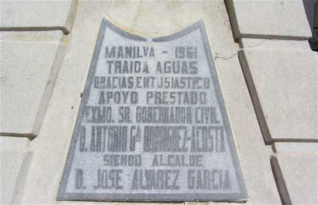 Fuente en homenaje a D. Antonio Gª Rodriguez Acosta