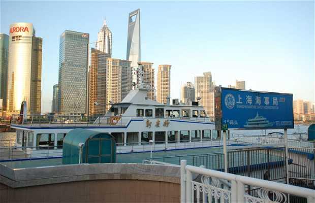 Barcos en el Huangpu