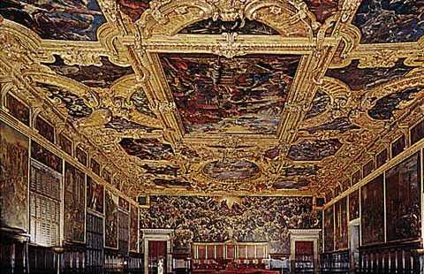 Sala del maggior consiglio palazzo ducale a venezia 3 for Planimetrie del palazzo con sala da ballo