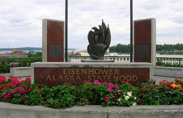 Monument Eisenhower Alaska Statehood