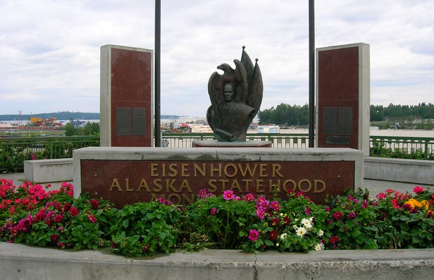 Monumento a Eisenhower in Alaska