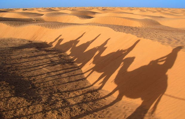 Desierto rojo del Sahara