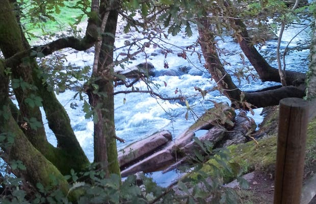 Corriente de agua fresca