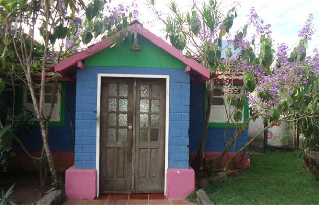 Arte nas casas da Barra do Jucu