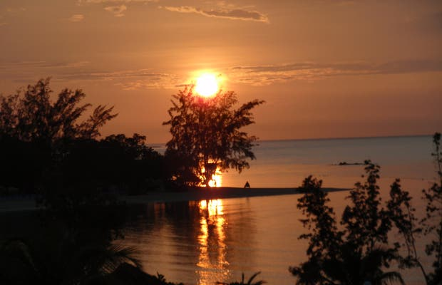 Puesta de sol jamaicano