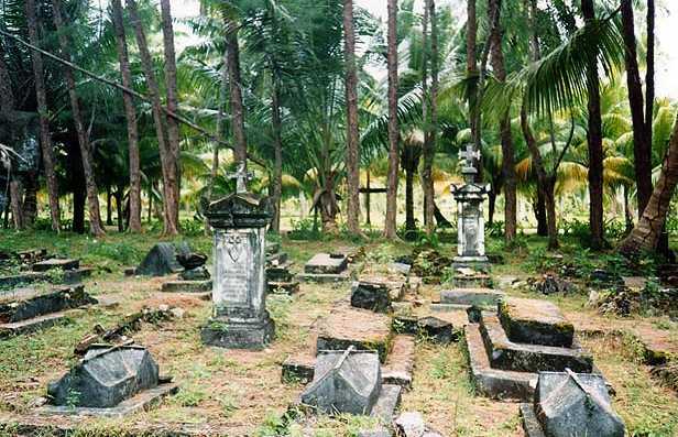 El cementerio del Bel Air en Mahe