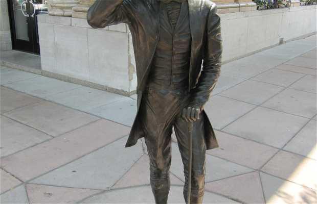 Sculpture du président Monroe