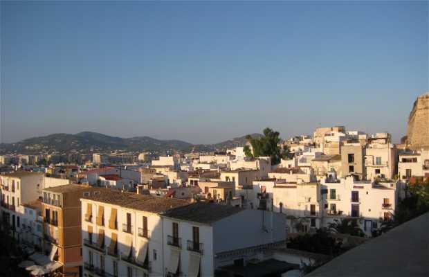 Panorama su Ibiza dalla Fortezza