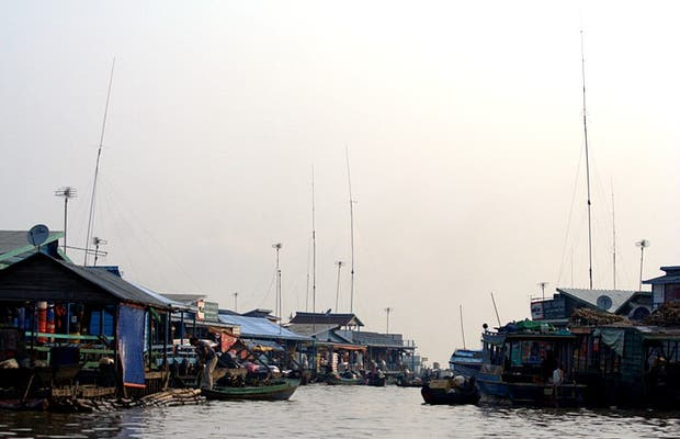 Pueblo flotante de Kompong Luong