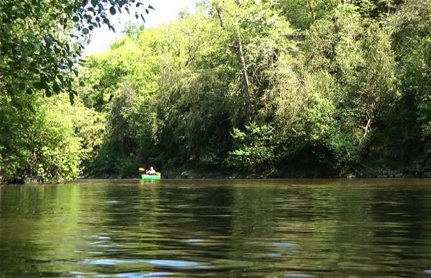 Descente en canoë sur le Célé